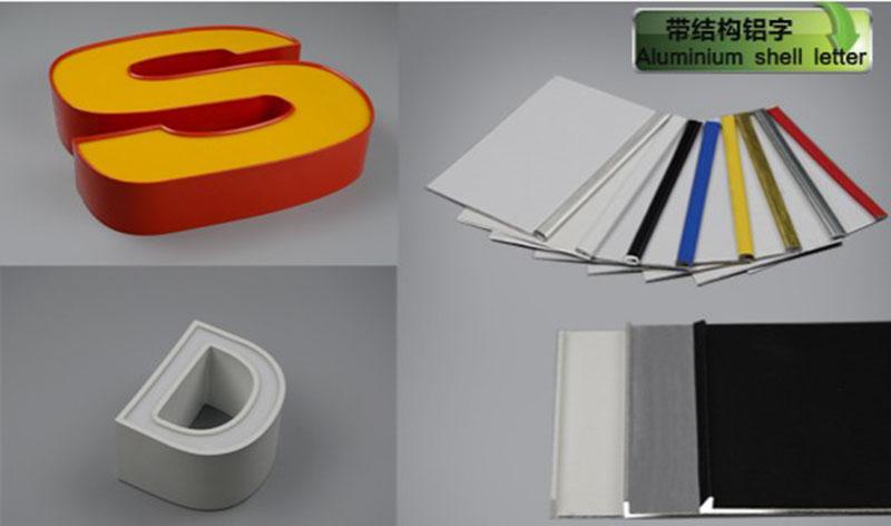 aluminium shell letter