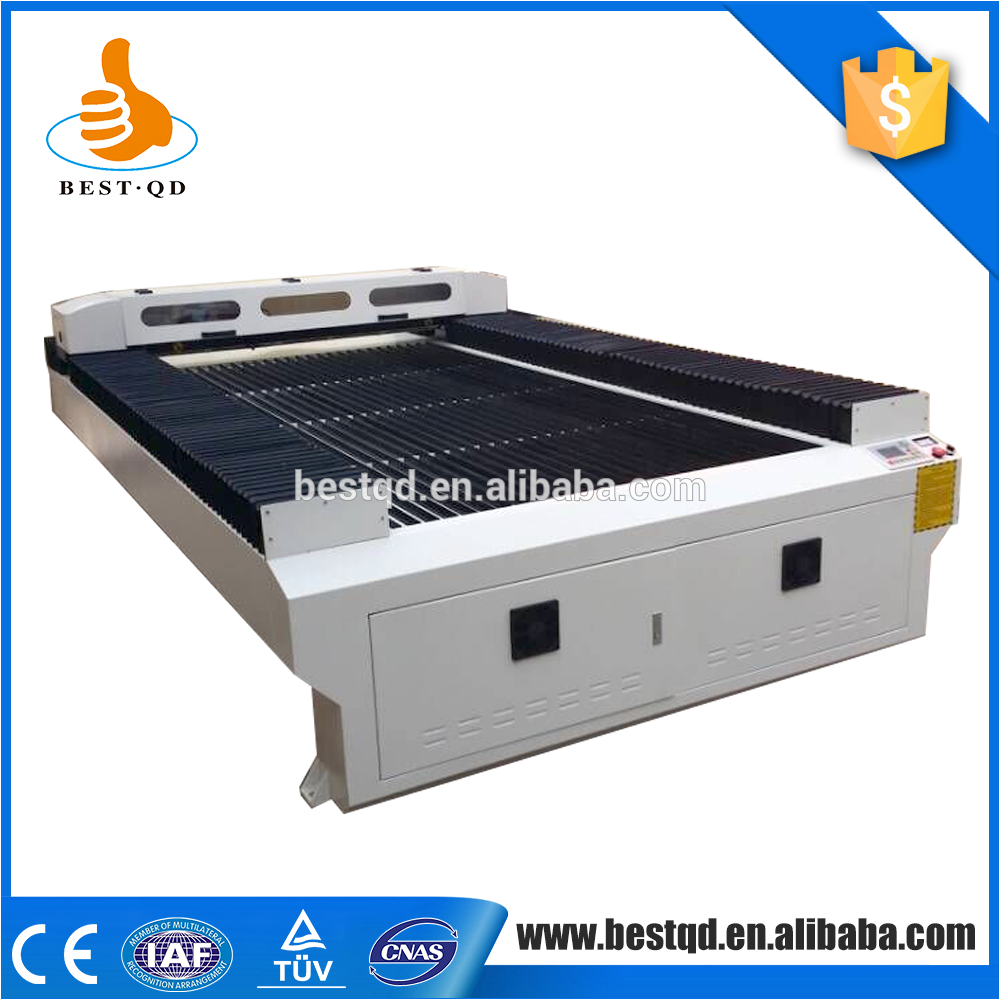 China Alibaba flat bed textile co2 jeans cloth laser cutting machine